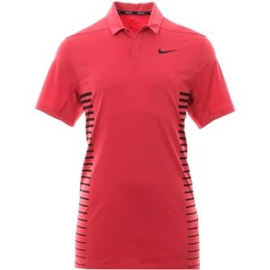 Nike Golf Dry Print Stripe Polo Tropical Pink
